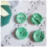 Mint Green Round Buttons