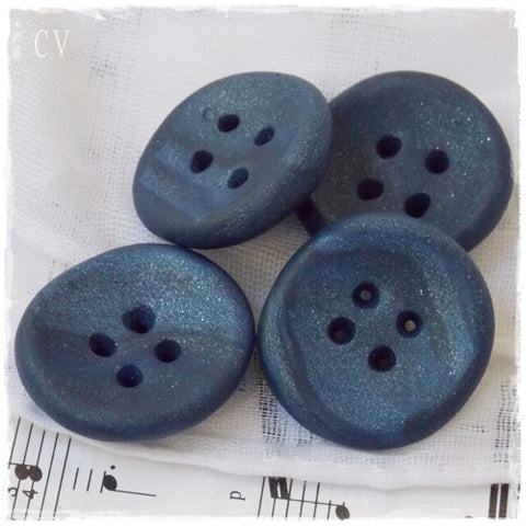 Extra Large Navy Blue Buttons ~