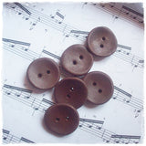 Handmade Polymer Clay Buttons in Brown