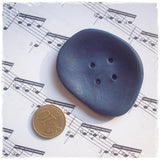 Handmade Oversized Blue Button