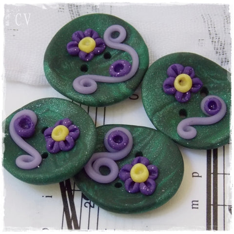 Fairy Polymer Clay Buttons