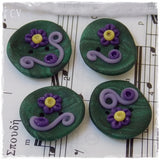 Artistic Polymer Clay Buttons