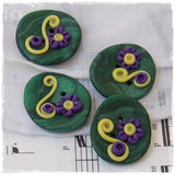 Floral Polymer Clay Buttons