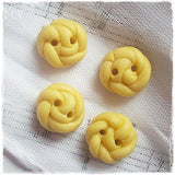 Pastel Yellow Braided Buttons