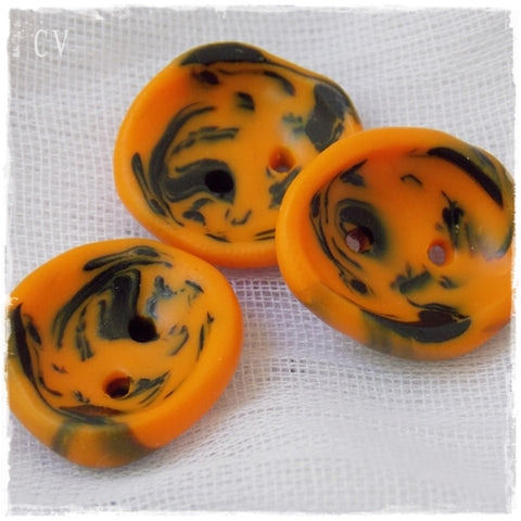 Artistic Halloween Polymer Clay Buttons