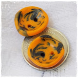 Orange Tribal Buttons
