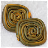 Spiral Oversized Polymer Clay Buttons