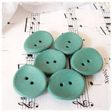 Large Turquoise Polymer Clay Buttons