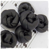 Black Polymer Clay Buttons