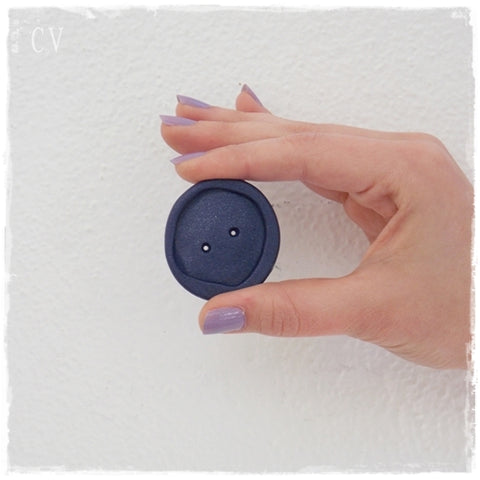 Oversized Dark Blue Button