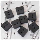 Small Square Black Buttons