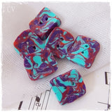 Square Polymer Clay Buttons