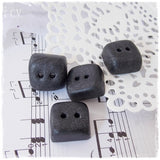 Small Polymer Clay Square Buttons