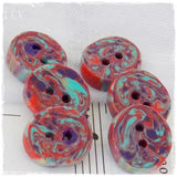 Multicolor Polymer Clay Buttons *