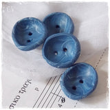 Small Blue Polymer Clay Buttons