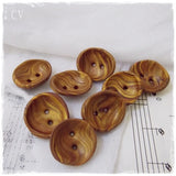 Small Stripped Polymer Clay Buttons