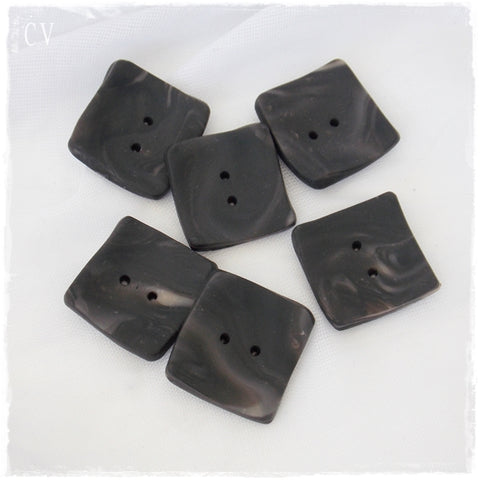 Oversized Black Square Buttons