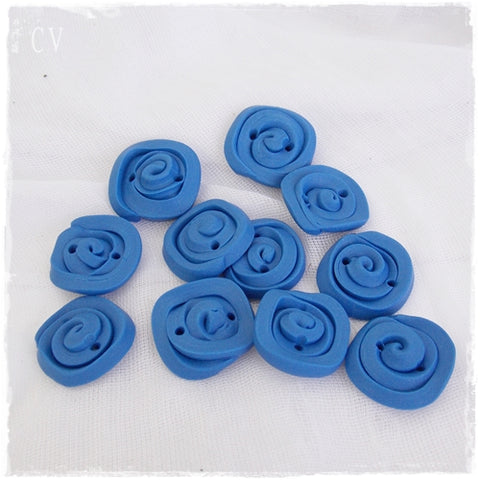 Large Blue Square Buttons