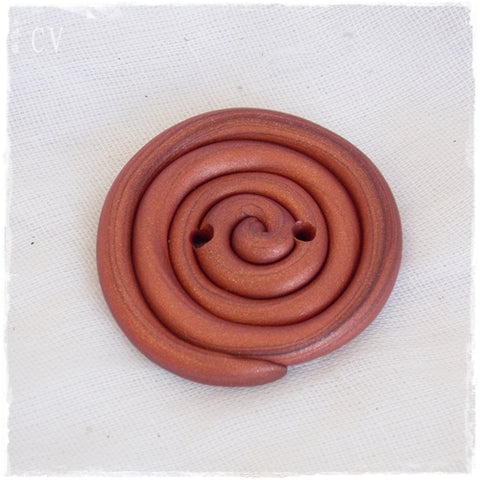 Giant Spiral Polymer Clay Button