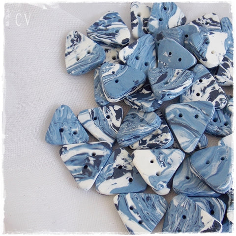 Guitar Pick Polymer Clay Buttons