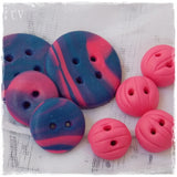 Oops: Blue & Pink Button Assortment ~