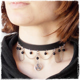 Triskelion Leather Choker