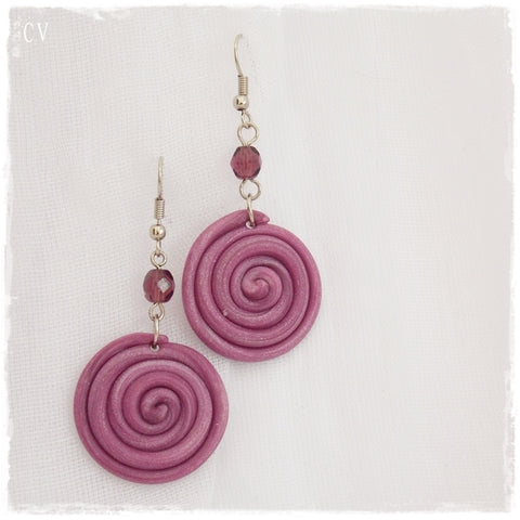 Raspberry Polymer Clay Earrings