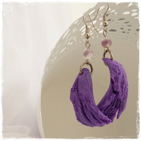 Hand-Sculptued Polymer Clay Earrings