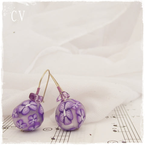 Polymer Clay Millefiori Earrings