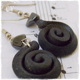 Goth Lolita Black Long Earrings
