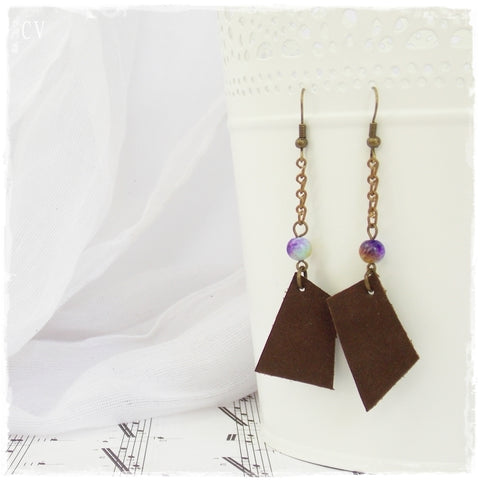 Tribal Leather Earrings