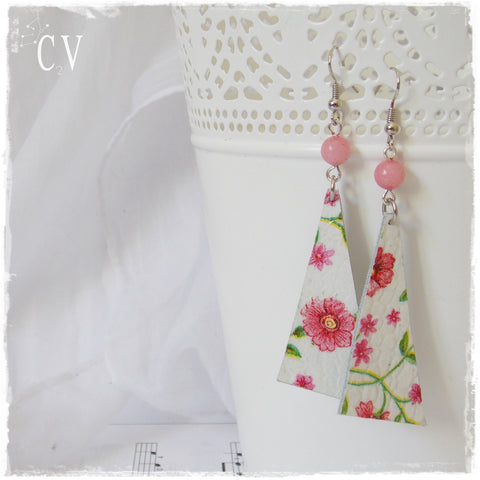 Forget Me Not Flower Long Earrings