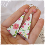 Decoupage Leather Earrings