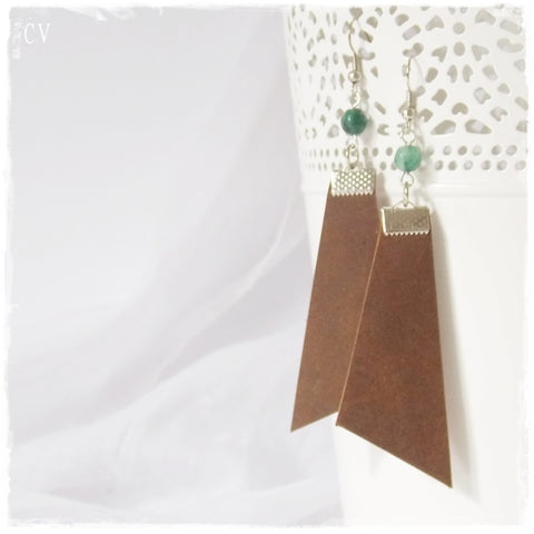 Rustic Leather Arrow Earrings