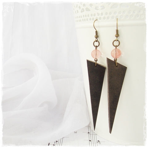 Tribal Arrow Leather Earrings