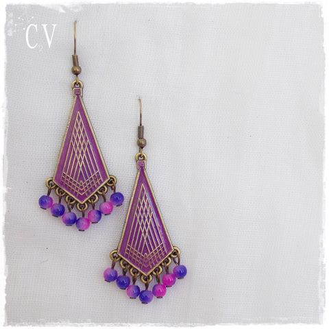Bohemian Geometric Ethnic Earrings