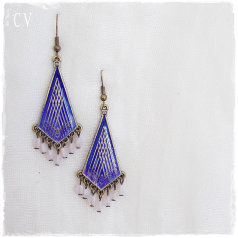 Ethnic Brass Tribal Earrings