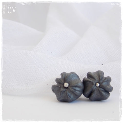 Gothic Organic Polymer Clay Earrings