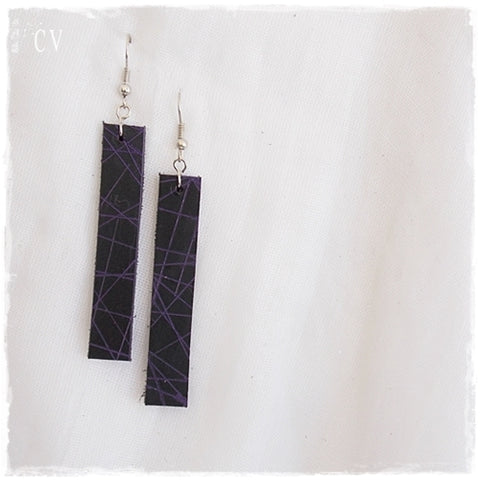 Black Bad Leather Earrings
