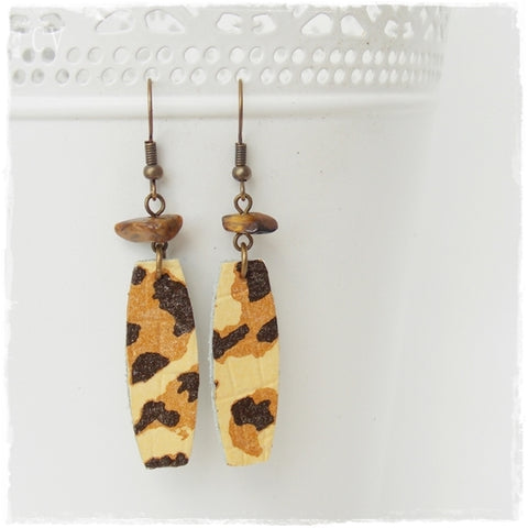Tiger Eye Animal Print Earrings