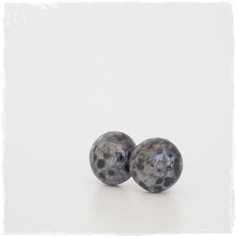 Silver Moon Post Earrings