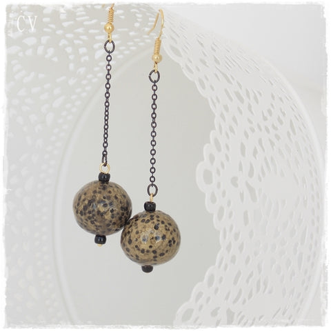 Full Moon Dangling Earrings