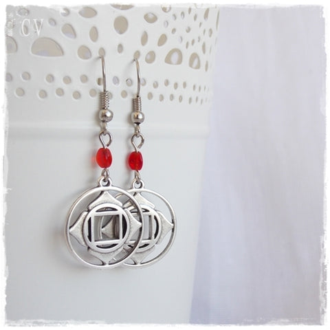 Root Chakra Earrings