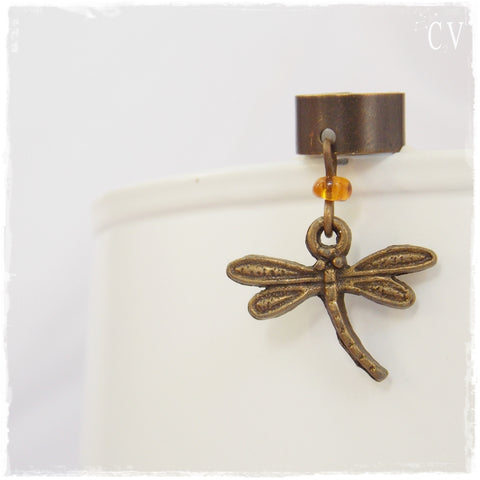 No Piercing Dragonfly Ear Cuff