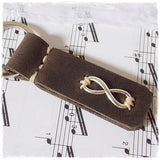 Silver Infinity Leather Keychain ~