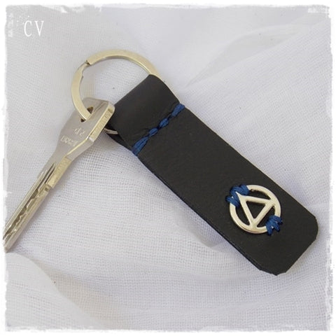 Alcoholics Anonymous Leather Keychain