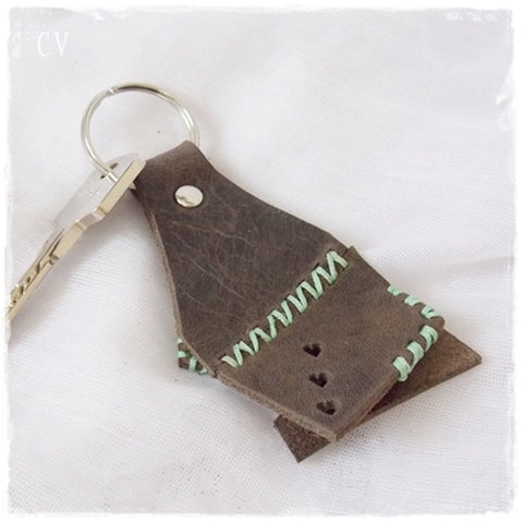 Indie Leather Keychain ~