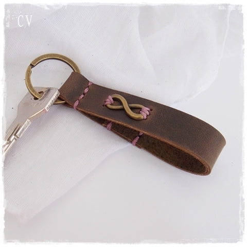 Infinity Leather Keychain ~