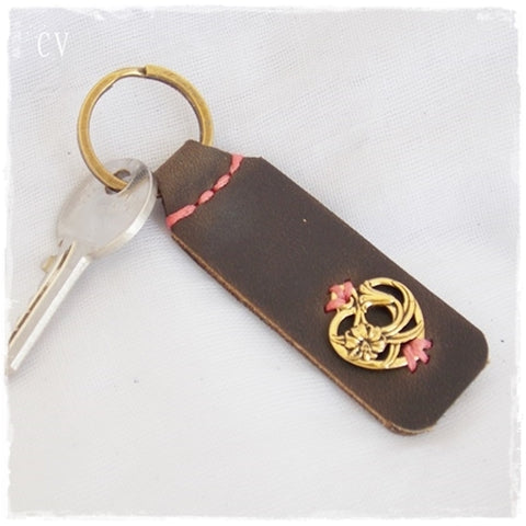 Floral Heart Keychain #