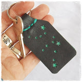 Personalized Constellation Leather Keychain